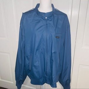 Vintage Members Only Blue Iconic Racer Jacket XXL